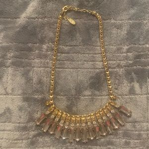 Vintage Cara Couture Gold and Crystal Necklace
